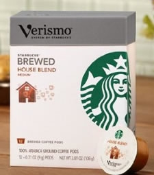 Starbucks Verismo Coffee Pods